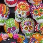 Dia de los Muertos painted sugar skulls